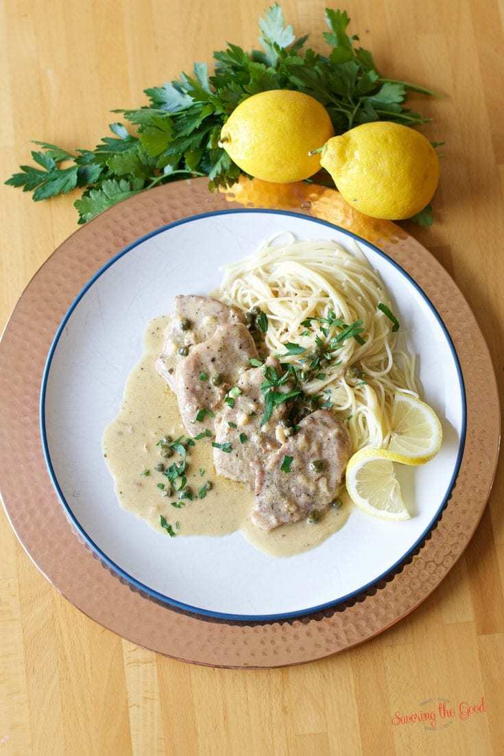This pork tenderloin lemon piccata medallion recipe is simple, delicious and elegant for any date night or dinner with friends.