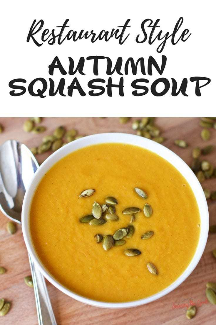 Autumn squash soup is one of my favorite soups at Panera bread. This is a copycat recipe and while it is not exact (who can replicate Panera anyway?) it is delicious, creamy and full of fall flavors. You will be surprised how easy it is make at home.
