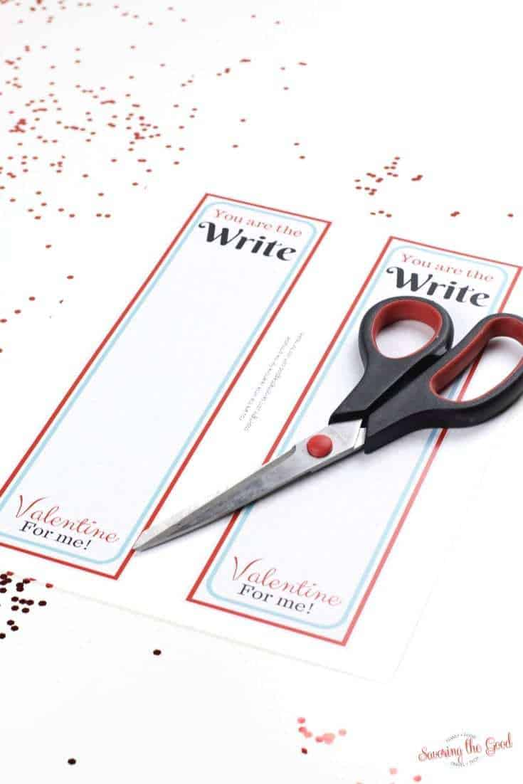 you are write for me classroom valentine printable cutting