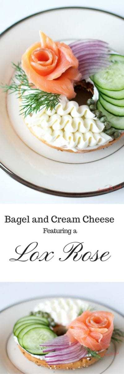 Easter Brunch Bagel and Cream Cheese With A Lox Rose | 400 x 1200 jpeg 38kB