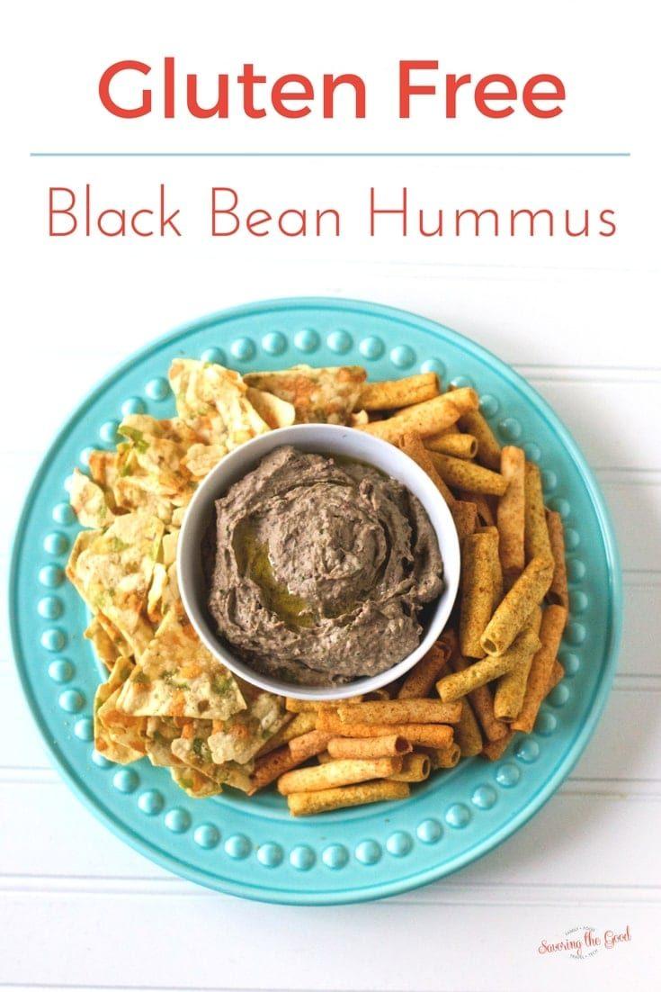 Easy Homemade Gluten Free Black Bean Hummus with Roasted Garlic Recipe