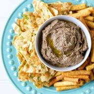 Easy Homemade Gluten Free Black Bean Hummus with Roasted Garlic Recipe