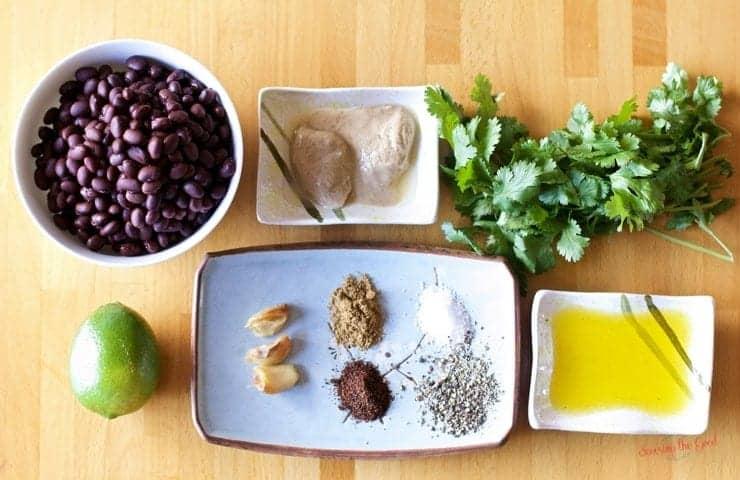 Gluten Free Black Bean Hummus Recipe Ingredients