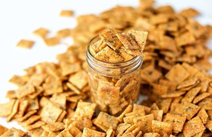 homemade seasoned ranch cheese crackers