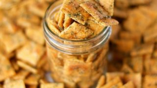 Homemade Seasoned Ranch Cheese Crackers