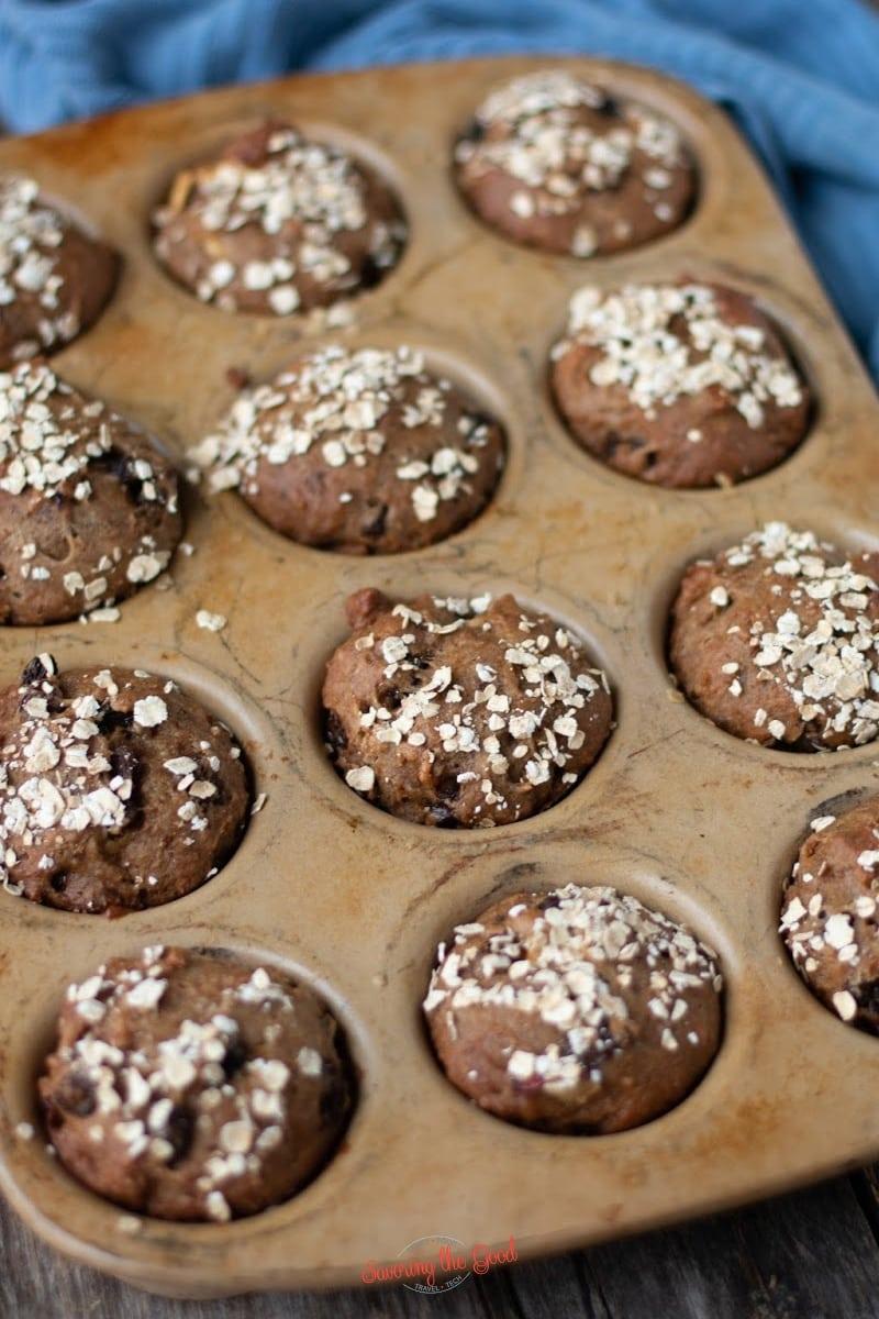 Refrigerator Apple Raisin Bran Muffins