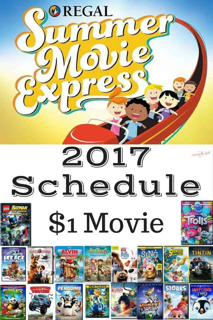 Regal Cinema's Summer Movie Express 2017 Schedule