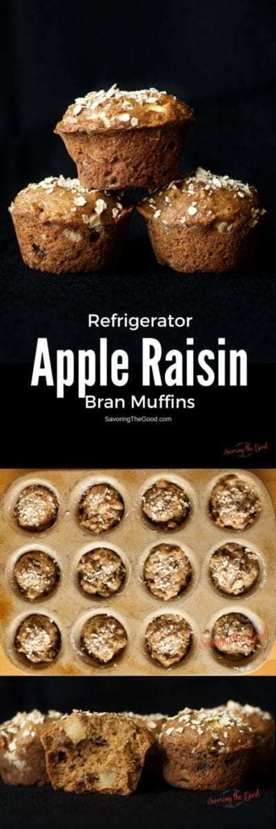 Scholarship Winning Refrigerator Apple Raisin Bran Muffins