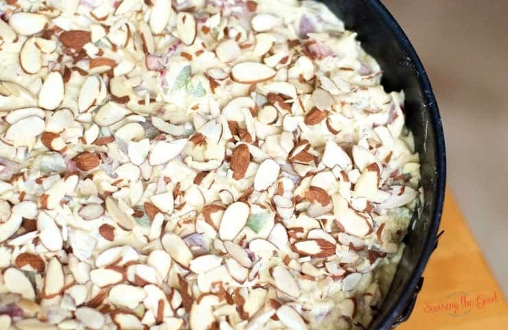 Rhubarb Cake Almonds Recipe. Easy, Moist, Delicious