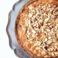 Rhubarb Cake with Almonds Recipe. Easy, Moist, Delicious