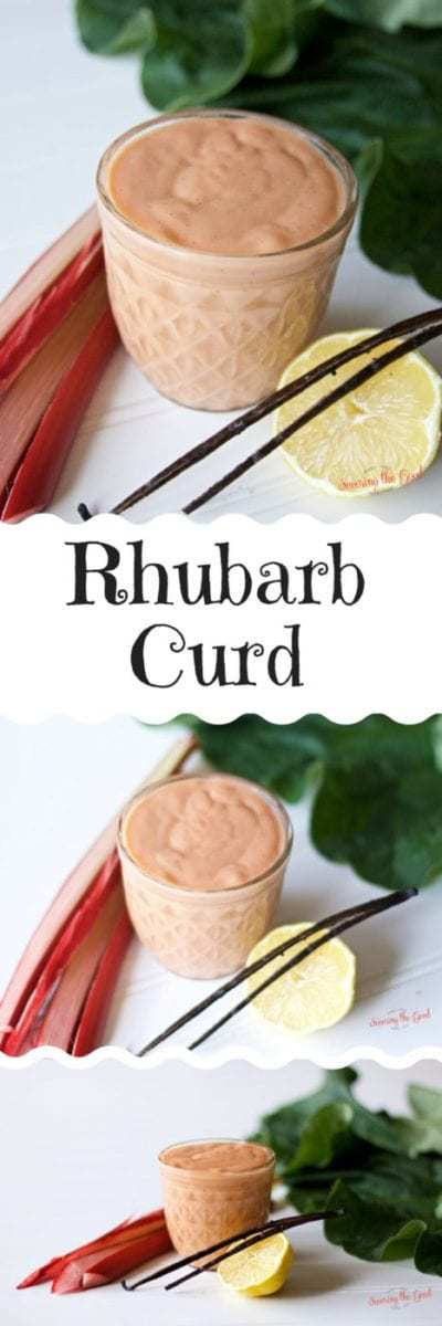 ... rhubarb curd recipe will have you skipping the pie. This silky curd