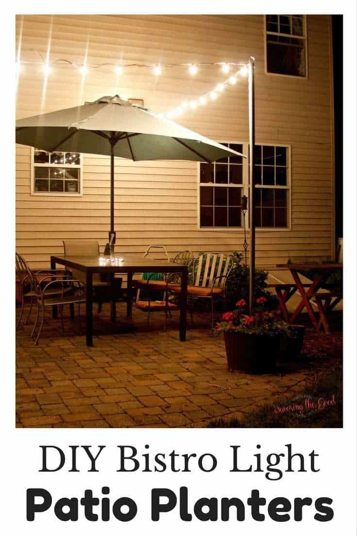 planter lights around a patio