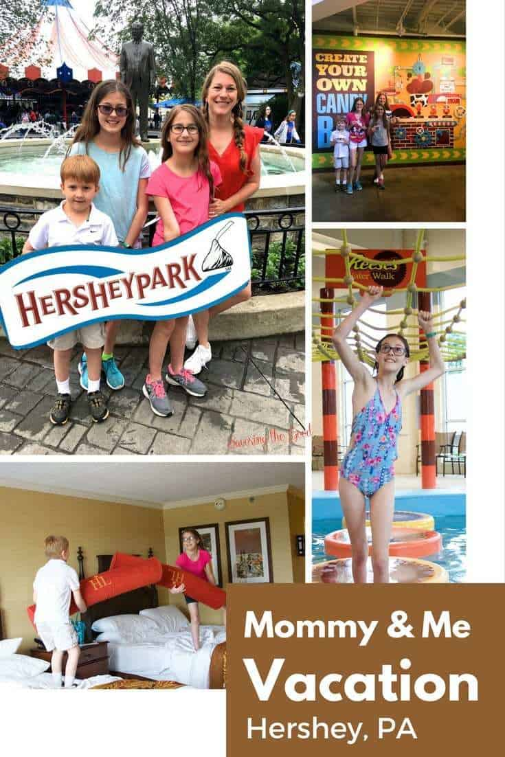 Sometimes you just need a little getaway with your kids! You and the spouse take time together so why not plan a vacation with just Mommy and me? Vacation time means that rules relax and the fun flows. Let the kids see you cut back and have a good time. Hershey Pennsylvania is the sweetest place to take a mommy and me vacation.