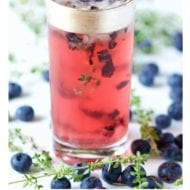 Summer Meets Fall. Blueberry Thyme Cocktail