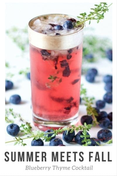 Summer Meets Fall. Blueberry Thyme Cocktail.