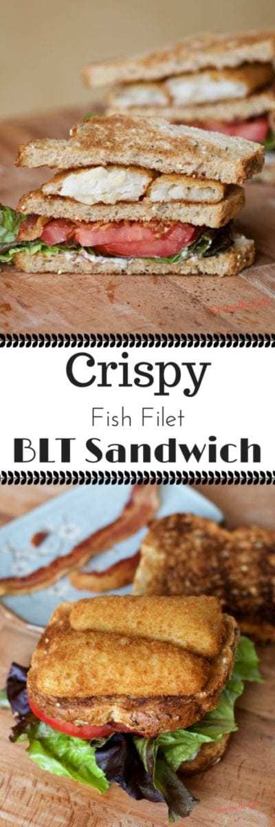 When a traditional BLT is not enough for your lunch and your fish on Friday meal need a fresh twist, make this easy recipe for crispy fish filet BLT sandwich. Tender pollock fish that is sustainably caught, along with crisp bacon, freshly sliced tomatoes and cold lettuce make for a delicious meal any day of the week.