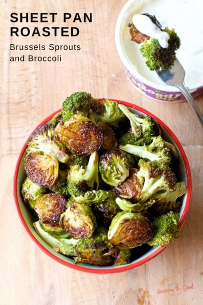 Sheet Pan Roasted Brussels Sprouts and Broccoli