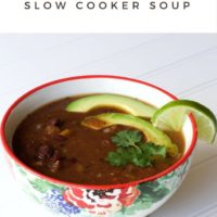 Crock Pot Slow Cooker Black Bean Soup Recipe