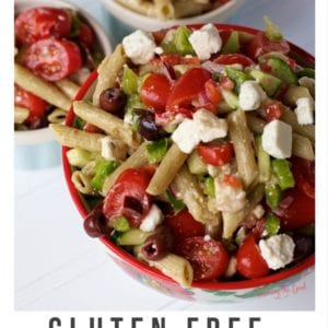 Gluten Free Greek Vegetable Cold Pasta Salad