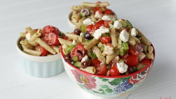 Gluten Free Greek Pasta Salad