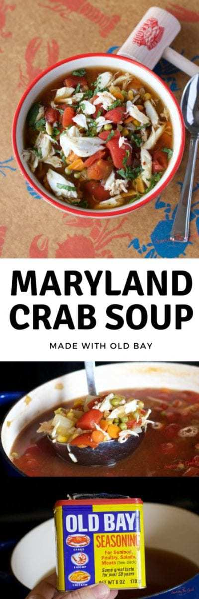 Maryland Crab Soup with Old Bay seasoning