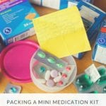 Packing A Mini Medication Kit For Travel