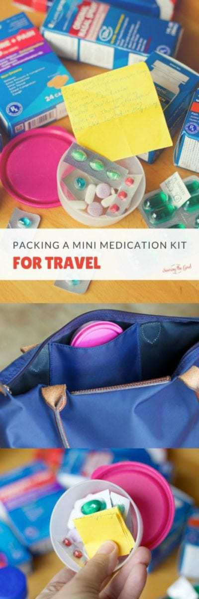 There is so much to remember and pack when you are traveling with your family. This is how we pack a mini medication kit for travel. It is so simple you will wonder why you don't cary one with you even when you are not traveling.