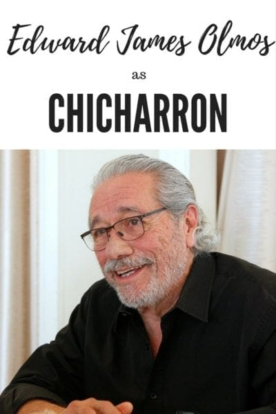 Edward James Olmos is the voice of Chicharron in Pixar's Coco