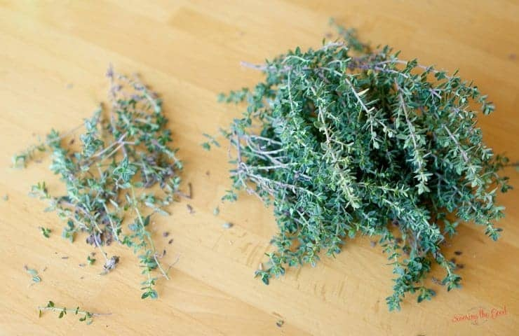 dried thyme on a table