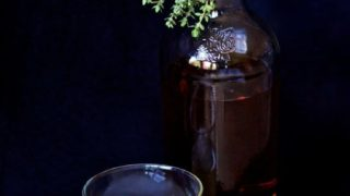 Homemade Thyme Infused Bourbon