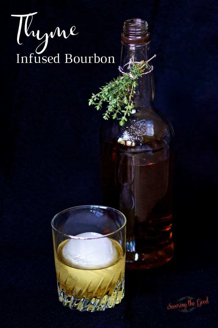Thyme infused bourbon