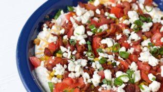 Easy Ranch Blue Cheese Cobb Dip Recipe