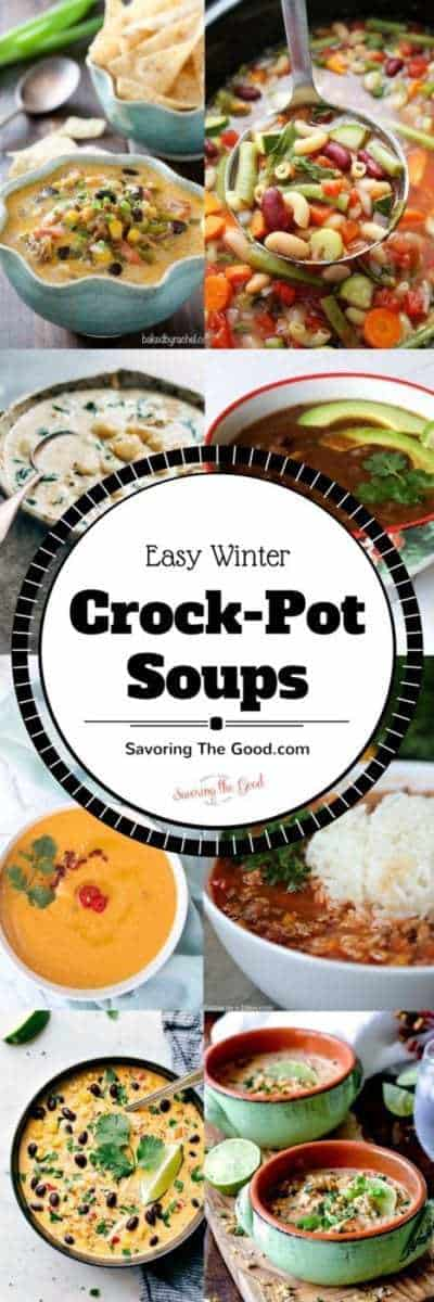 Cozy up this winter with a blanket and let your Crock-Pot slow cooker make your lunch and dinner with these recipes for easy soup. Many are dump and cook but all are delicious and simple.