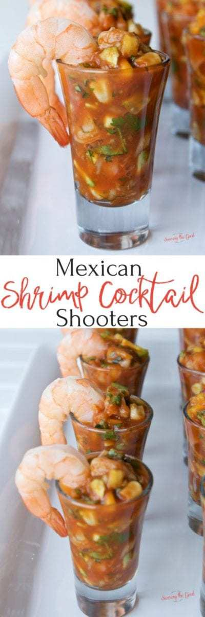 This recipe for Mexican shrimp cocktail shooters is a guaranteed run away hit of an appetizer. Perfectly cooked sous vide shrimp married with crisp cucumber, juicy mango, bright cilantro, tangy fresh lime juice, sweet corn and the connivence of store bought cocktail sauce. Tossing back a few of these shooters is a delicious way to start any party.