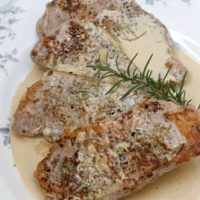 Sous Vide Boneless Pork Chops With Rosemary Cream Sauce