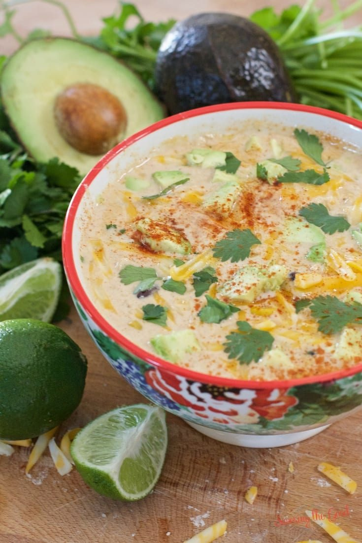 Crockpot Mexican Corn and Chicken Soup
