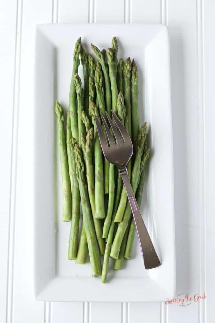 sous vide asparagus tips