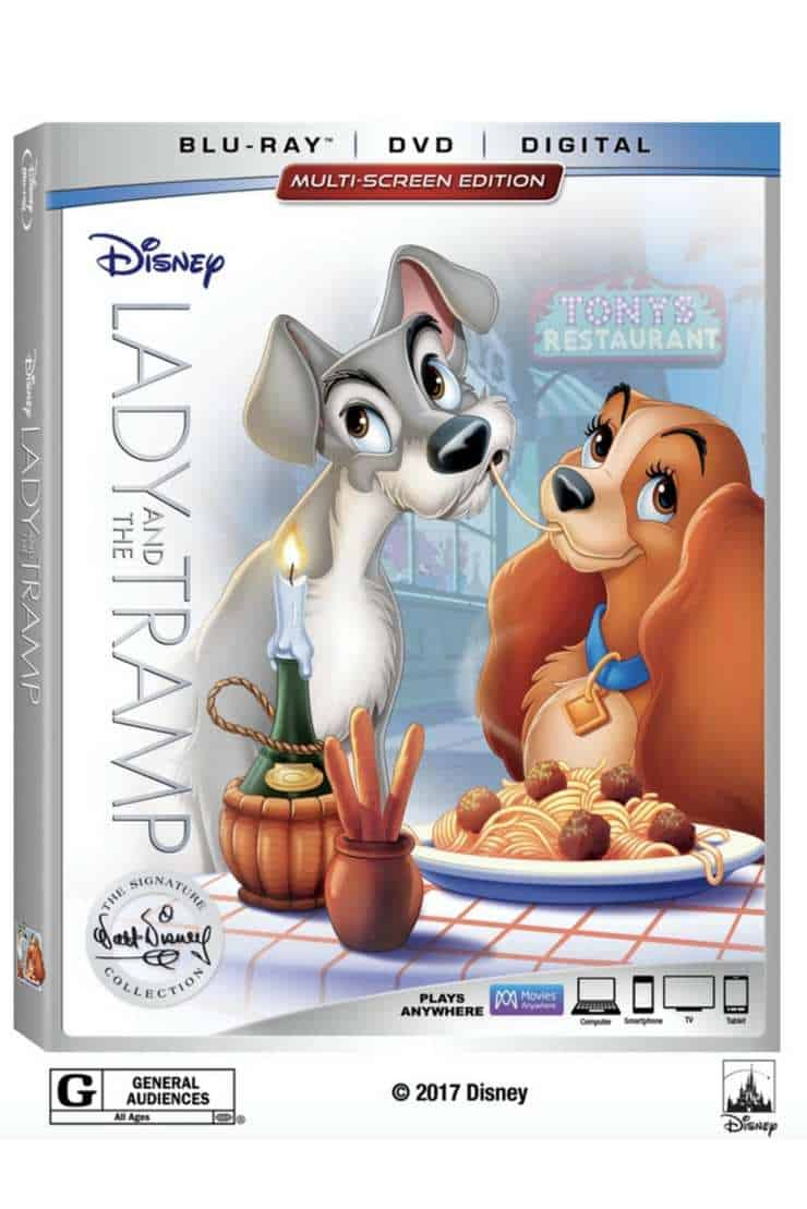 On February 27 pick up your copy of Lady and the Tramp dvd. The Lady and the Tramp is already out on digital and Movies Anywhere. Add the Disney classic Lady and the Tramp dvd to your family movie collection.
