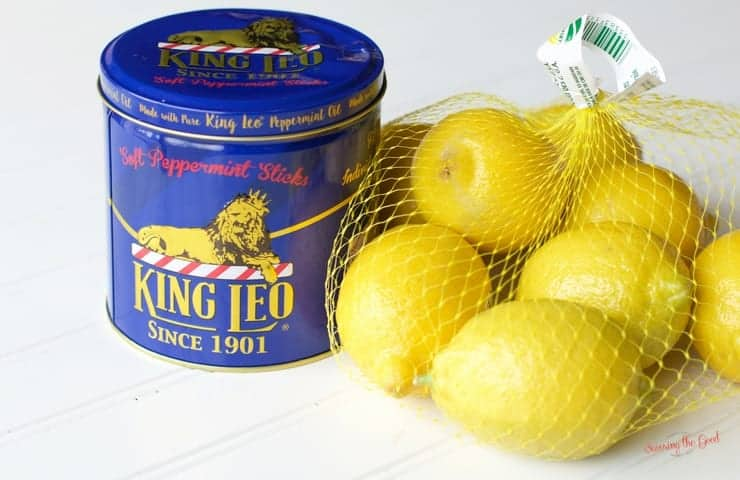 lemons and king leo peppermint sticks