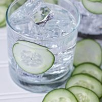 Sous Vide Cucumber Infused Gin