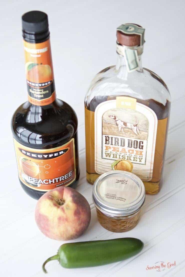 peach bourbon smash cocktail ingredients
