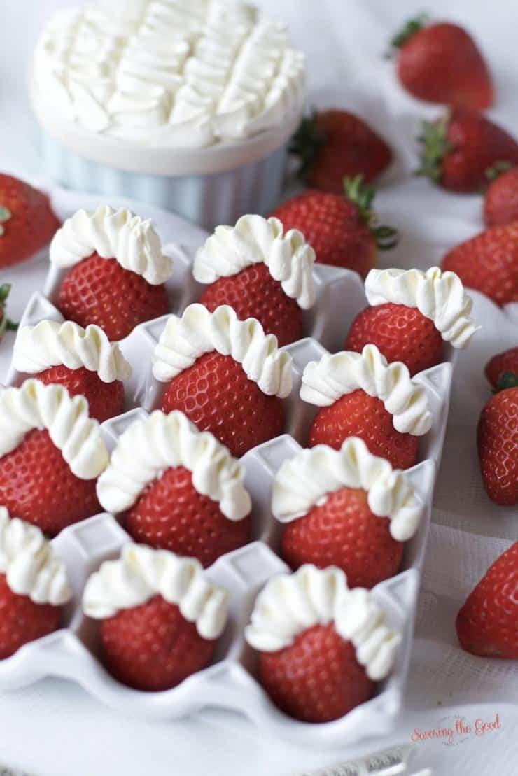 strawberries with mascarpone cheese