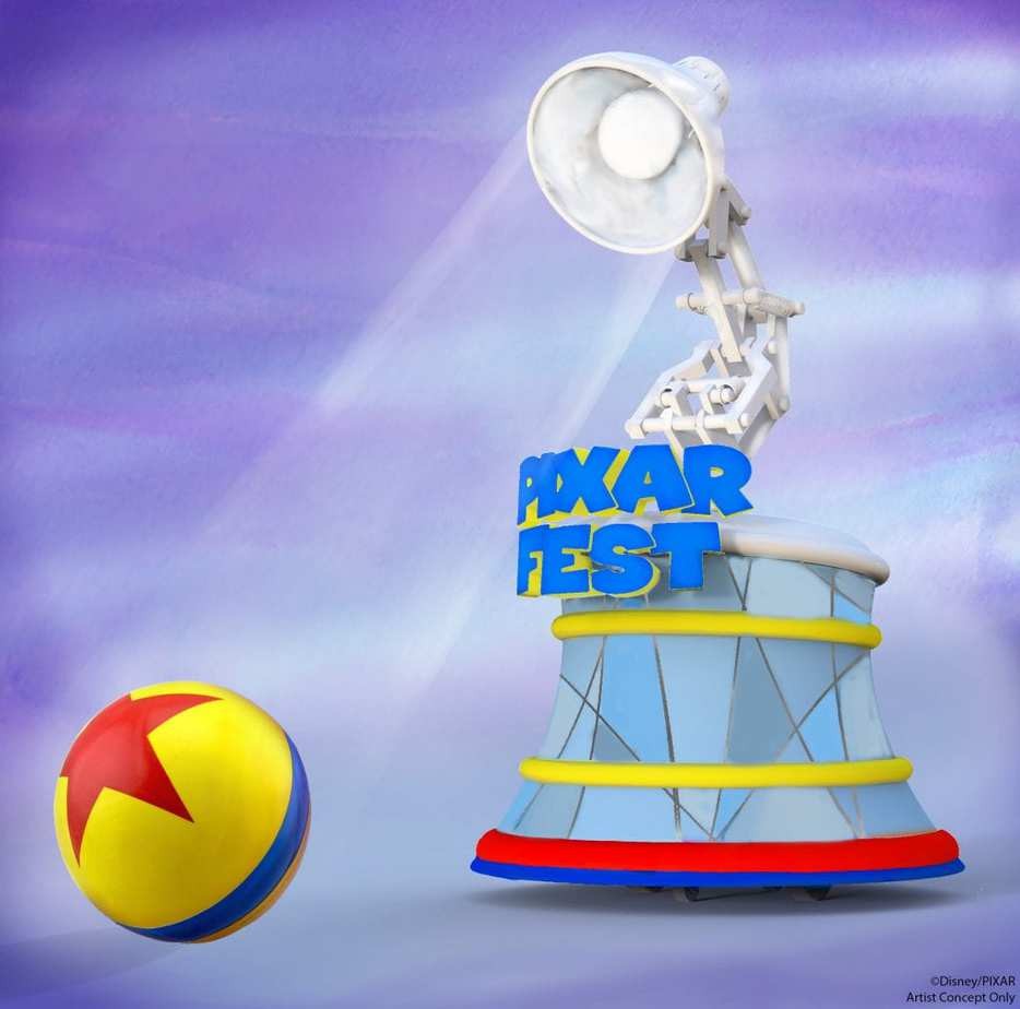 pixar fest lamp and ball