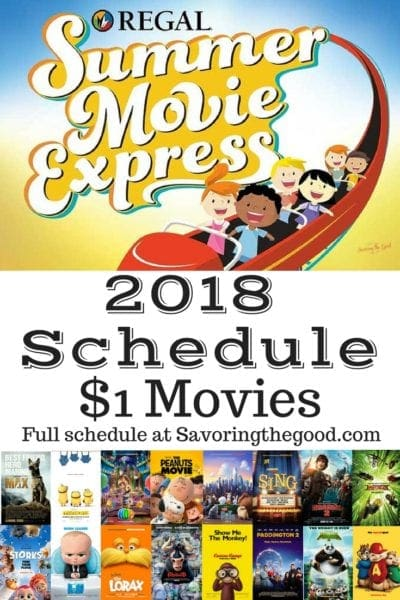Regal Cinema's Summer Movie Express 2018 schedule is here and it is jammed packed with family favorite movies. Take a break from summer each Tuesday and Wednesday this summer at take in a 10 am movie at Regal Cinema for only $1. Admission to the Summer Movie Express is only $1. Tickets available for purchase at the box office and all movies start at 10:00 am. Each week both movies play on both days.