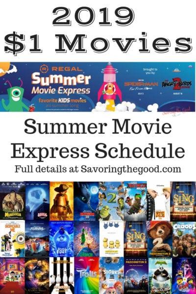 Regal Cinema's Summer Movie Express 2019 Schedule