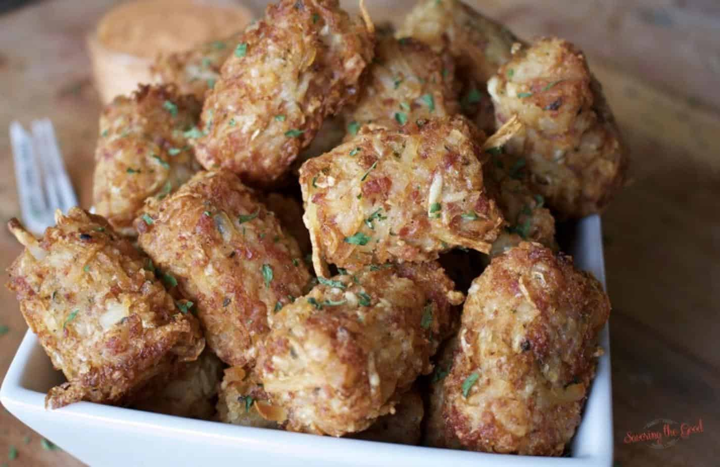 After St. Patrick's Day there is leftover corned beef. This is an easy recipe to use up leftover corned beef. Rueben tater tots have all the flavors of a classic reuben sandwich in tater tot form. Follow easy steps to make your own tater tots.