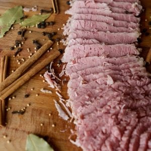 If you are looking for the best way to cook corned beef, you need to try my sous vide corned beef recipe. No longer do you need to wonder how long to boil corned beef or hope it is going to be the texture you love. I walk you through how to make the corned beef brine and use the sous vide cooking technique to make the best home made corned beef.