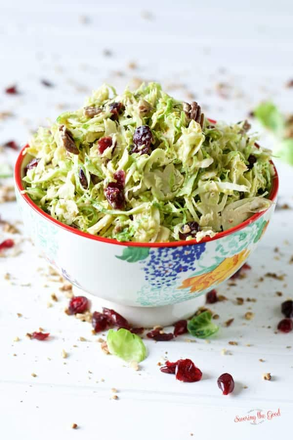 easy Brussels Sprout Slaw