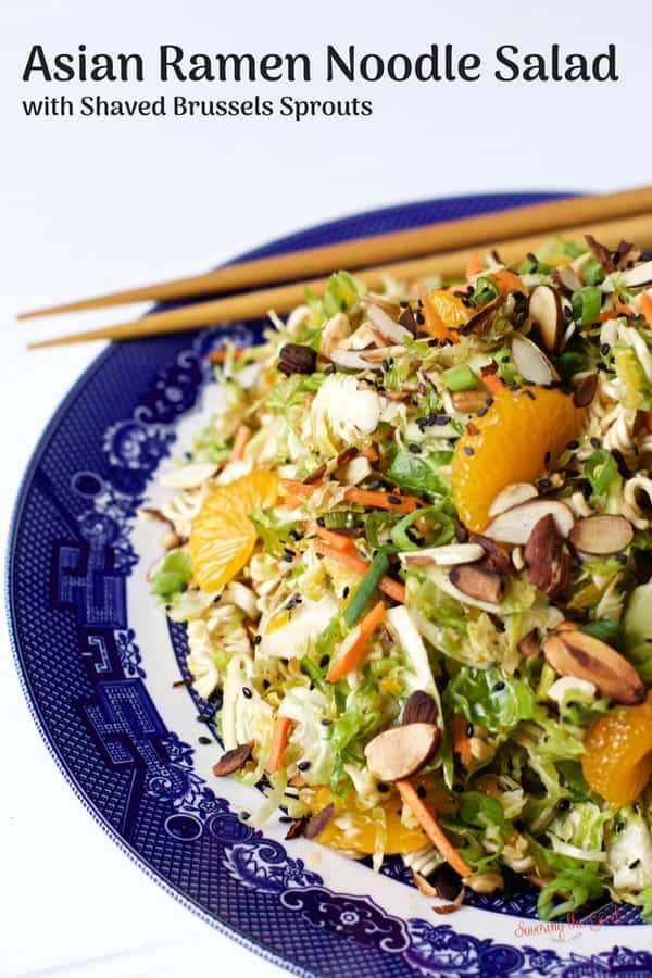 Asian Ramen Noodle Salad with Shaved Brussels Sprouts