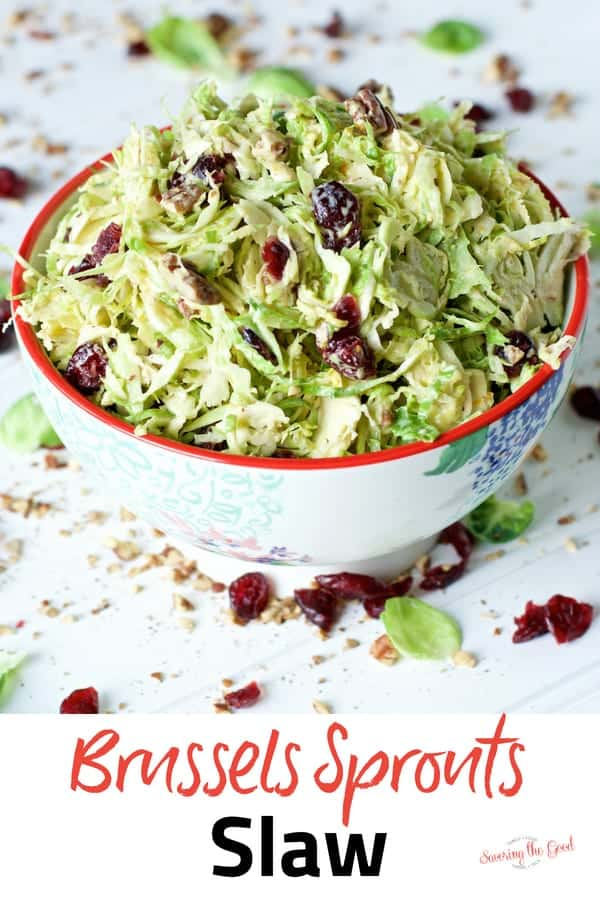 Cranberry Orange Brussels Sprout Slaw | Brussels Sprout